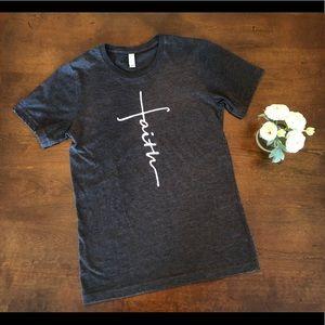 EUC Dark Grey Faith Short Sleeve Shirt